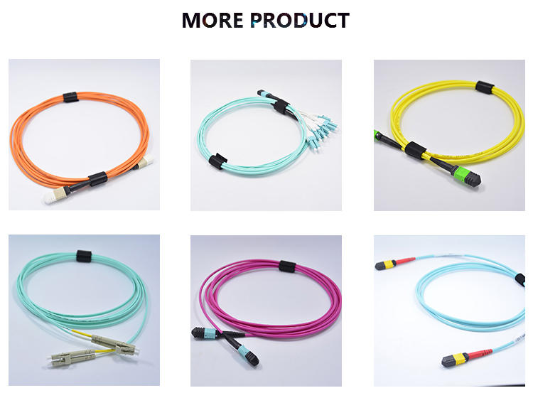 24 core mtp om3 MPO flat sheath band optical fiber cable fiber jumper connector terminating MTP MPO MPO cable