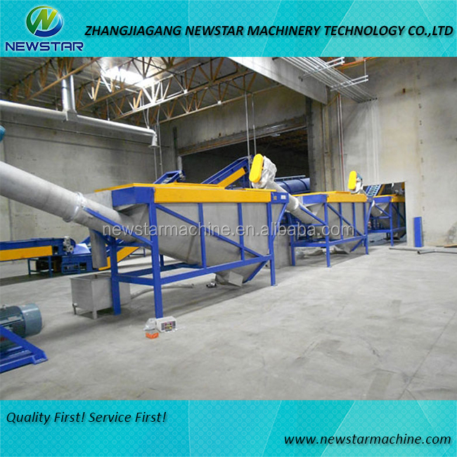 Plastic bag recycling line for PE PP PET