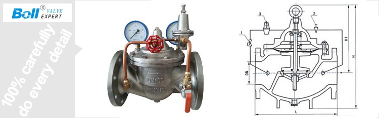 dn100 pn16 stainless steel water pressure reducing valve. Black Bedroom Furniture Sets. Home Design Ideas