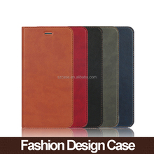Stand Design Soft Card Bag Wallet PU Leather Mobile Cover Phone Case For Iphone 7 Flip Back Cover