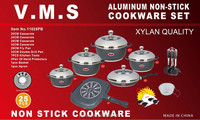 modern kitchen designs 25pcs ceramic cooking pot/Die cast aluminum non-stick cookware sets/cooking set