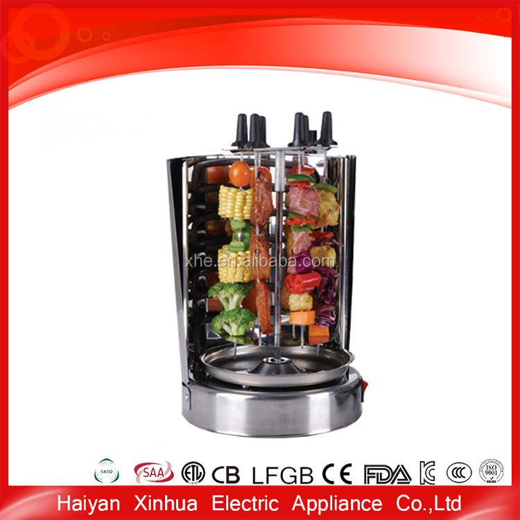 stainless stell material electric rotary chicken grill machine