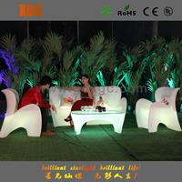 popular illuminous led modern outdoor furniture sofa