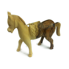 Hand crafted horse made of olive wood in Bethlehem 10cm