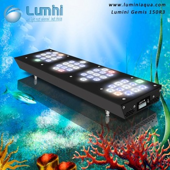 High Lux 150W Intelligence Programable 72 Inch LED Aquarium Light for Coral Reef Marine Tank with Wifi Controller