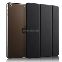 New Products Magnetic Ultra thin PU Leather Smart Cover Case For iPad 5 For iPad Air pc cover case