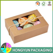 Wholesale window design cupcake packaging for 6 cupcakes