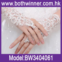 T0C12 new style beautiful Fashionable Fingerless wedding lace bridal gloves