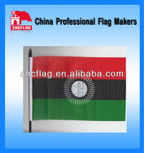 Country Flag Hand Shaking Flag With Logo And Flag Pole