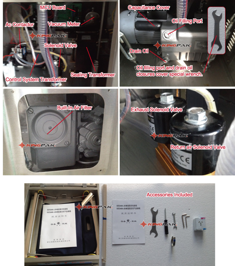 DZ400/2D Single Chamber Price For Vacuum Packing Machine