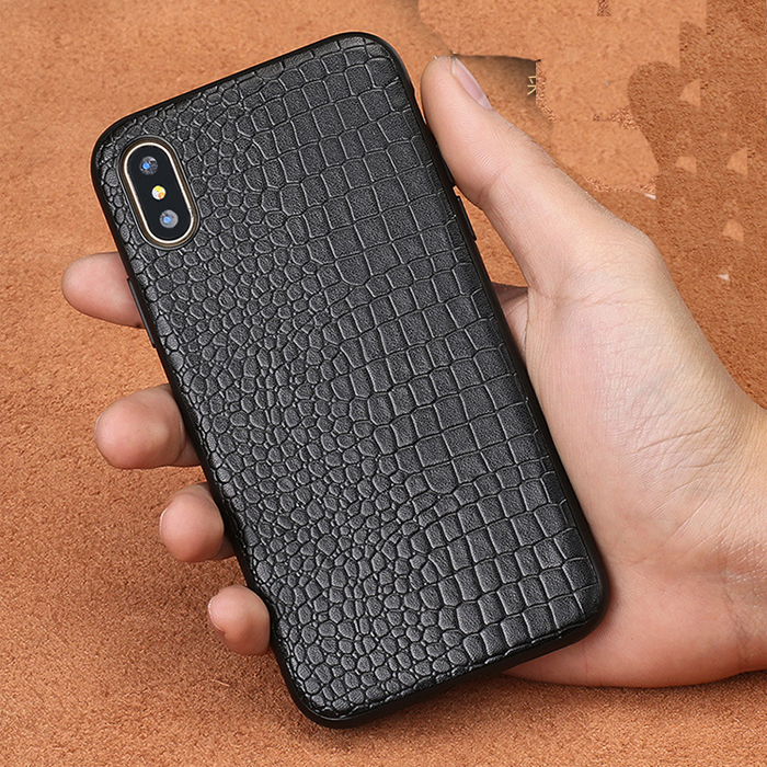 Real Leather Animal Print Phone Case