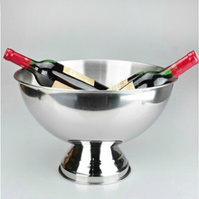 Bar stainless steel punch bowl beer wine cooler champagne ice bucket Large ice bucket for beer