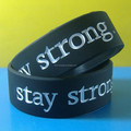 1 Inch Silicone Bracelets/One Color Filled Silicone Bracelets