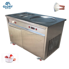 Hot sale thailand style instant ice crean roll machine cold plate fried ice cream machine for sale