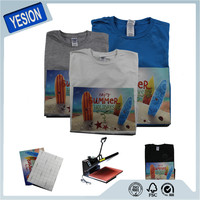 Yesion Best Quality T-shirt Heat Transfer Printed Paper/ Inkjet Printing Transfer Paper For 100% Cotton Garment