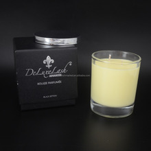 2017 factory making frost glass luxury aromatherapy candle