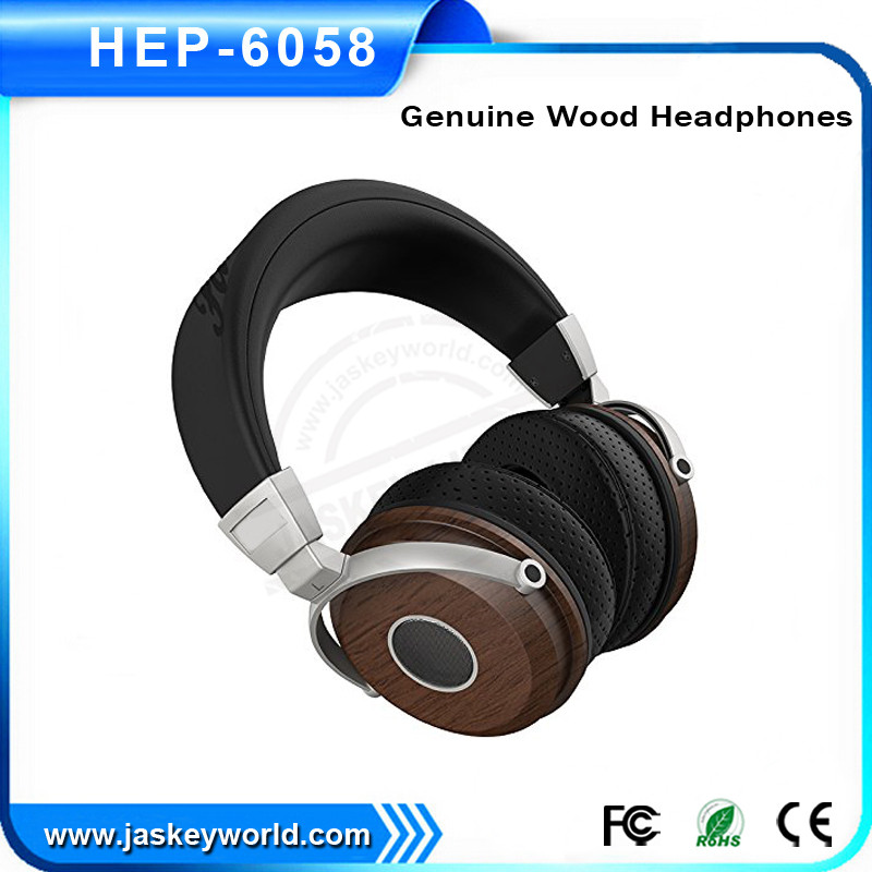 2016 High quality wood mobile headphones review best over the ear headphones