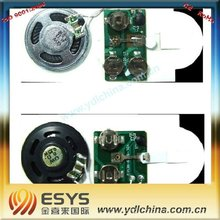 electronics sound speaker for invitation card