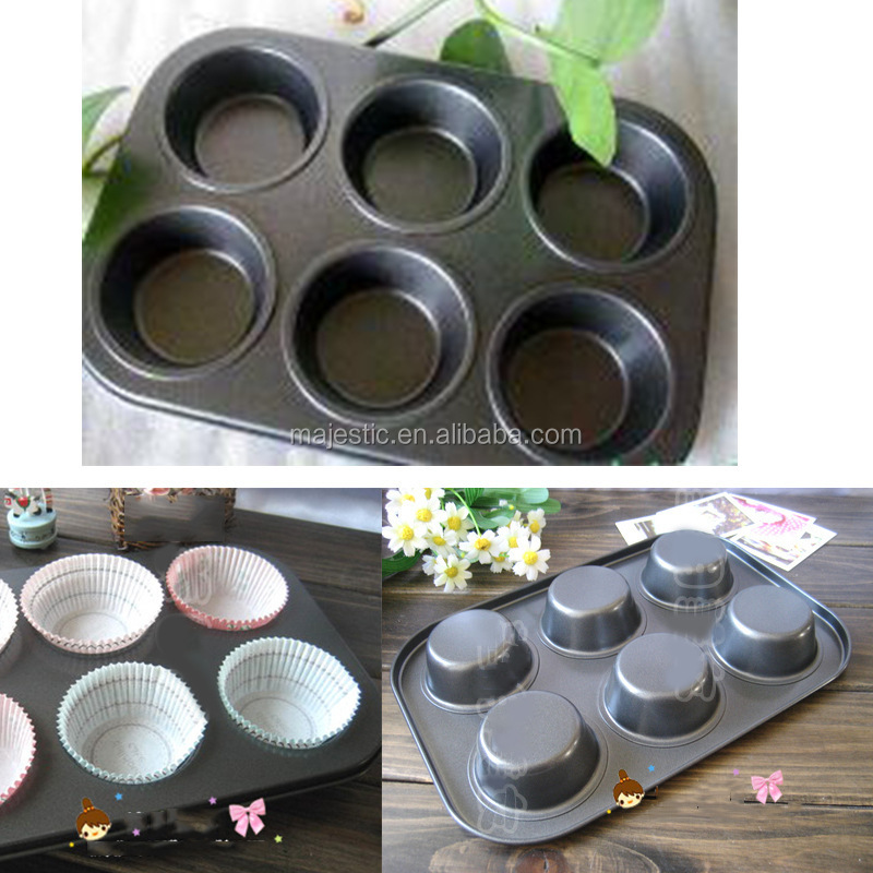 New Mold Products Flat Non-Stick Six Sections Even Cake Pan