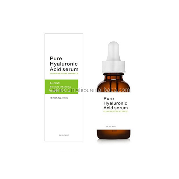 100% Pure Anti Aging Hyaluronic Acid serum Private Label