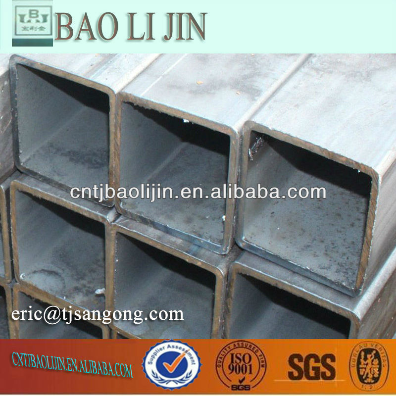 Welding Black Steel RHS steel tube low price Greenhouse used JIS SS400 SHS carbon steel pipe