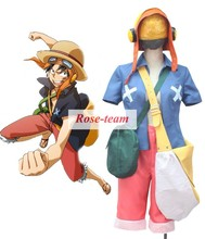 Fantasia Anime Lolita-Custom Made One Piece Film Strong World Monkey .D.Luffy Anime Cosplay Costume C0396