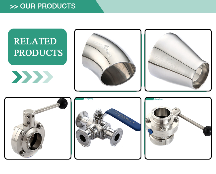 Promotional new product standard stainless steel sanitary pipe support