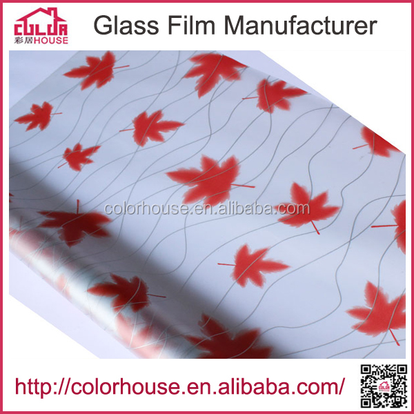 frosted privacy protection stained glass film with pattern