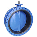 Concentric flanged butterfly valve DN80-DN1600, rubber lined body