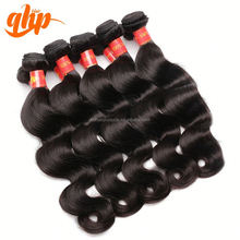 QHP natural body wave human peruvian 100% virgin remy popular ombre hair weave