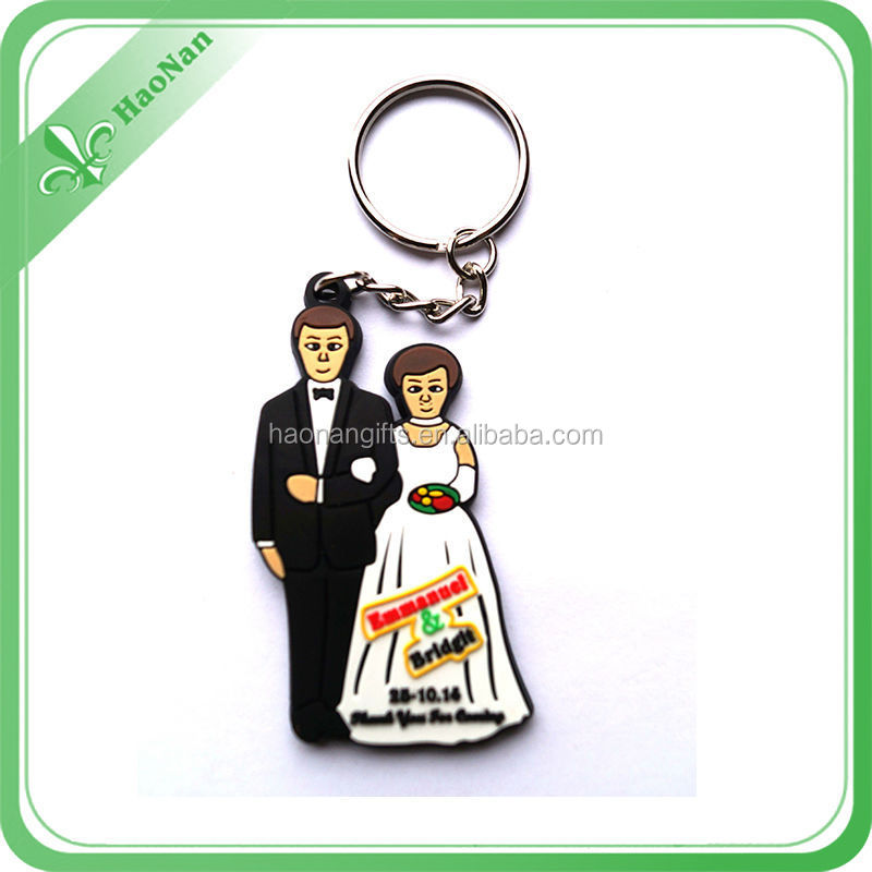 Promotion custom silicone key ring for travel souvenirs