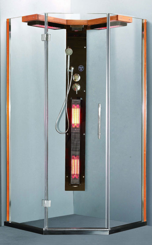 New series shower screen & shower column with infrared heaters Model KL011