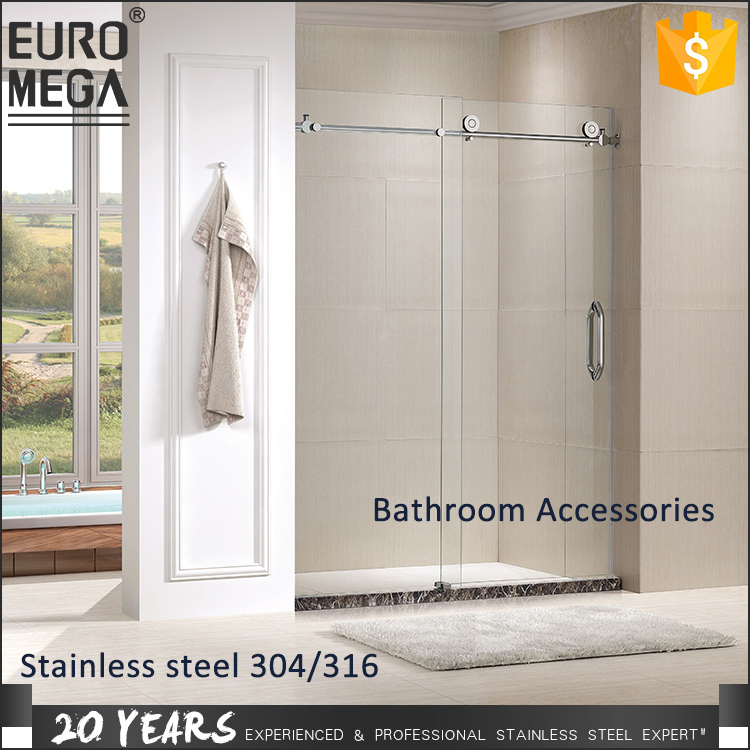 Custom Morden bathroom shower sets 6mm 8mm 10mm 12mm 15mm Bathroom Toughened Tempered Glass Sliding Door