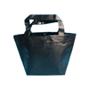 manufacturer beach black plastic shopper PVC solid tote handle bag