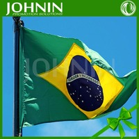 Made In China OEM Olympic Gram Cheering Brazil Blue Green Yellow Flag