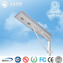 CE RoHS approved IP65 aluminum all in one solar led street light 8w-80w integrated solar street light