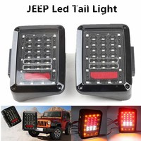 Car Integrated LED Tail Light For Jeep Wrangler JK Offroad Auto Red Taillight Rear Light DC 12V 2007 ~ 2014