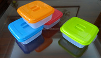 4L plastic food container, salad bowl, salad container with lid