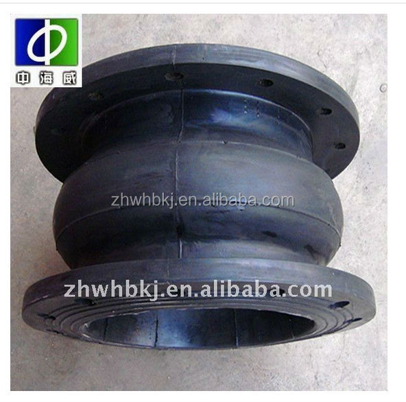 Big size hand built flexible flanged single sphere power plant epdm rubber pipe joints