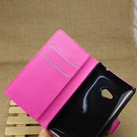 Lichee leather wallet case for huawei honor 3c
