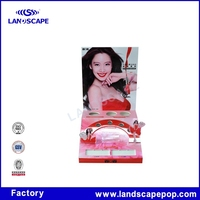 Paper material nail polish display for eyebrow pencil and pen