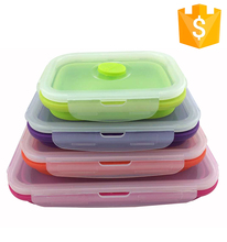650ml 22oz Food Grade Microwave Silicone Material Disposable Lunch Box Container