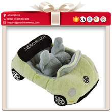 SGS safety report soft plush stuffed baby toy car