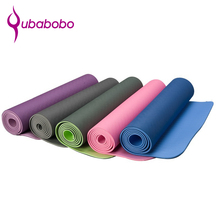 Cheap Fitness Exercise Tool Soft TPE Black Folding Yoga Mat