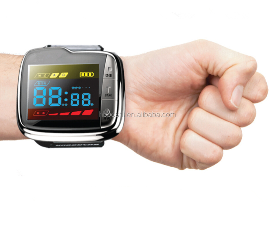 Wholesale low price high quality 650nm cold laser therapy medical watch