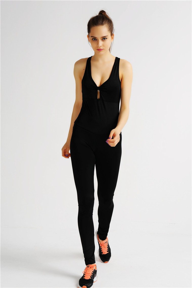 High Quality Dylan Female Backless Breathable Sports Sexy Tight Jumpsuit