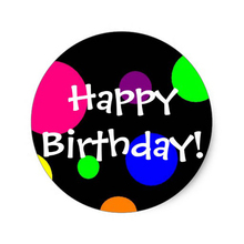 High quality happy birthday sticker, colorful birthday stickers