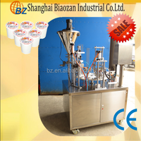Shanghai BZ plastic cup filling and sealing machine for coffee/paste/cream/milk/jelly/powder