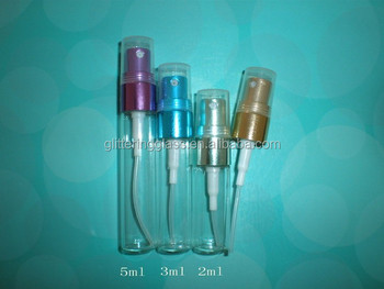 5ml clear glass vial with aluminum sprayer