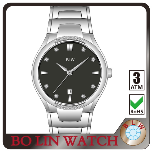 watch men/stainless steel/japan movement/high quality IP rose gold/5 atm/2015 newest/cheap, china watches in Shenzhen